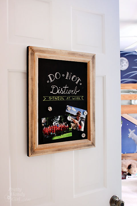 upcycled magnetic chalkboard frame pretty handy girl