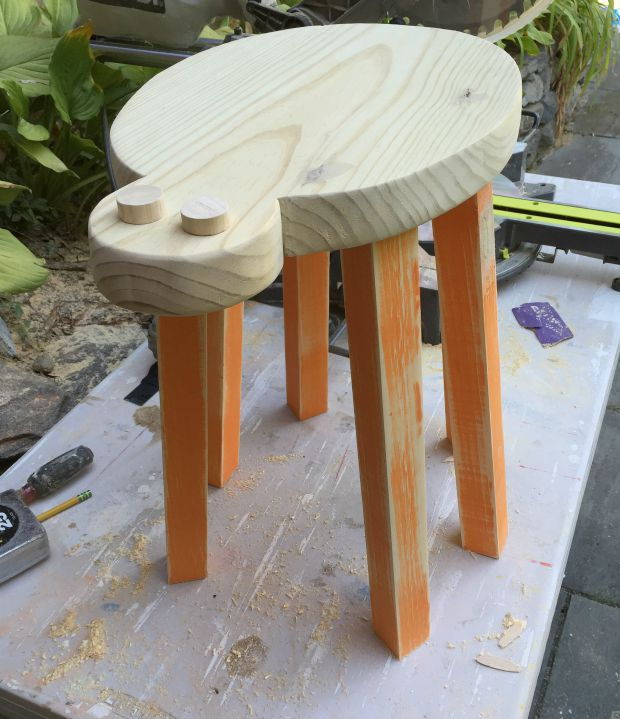 spider stool unfinished