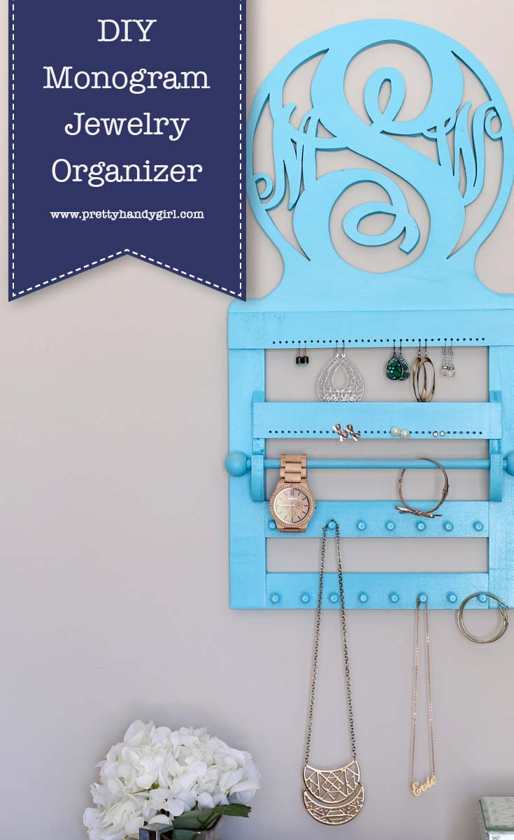 Check out this tutorial to make this Pottery Barn Teen Inspired Jewelry Organizer from Pretty Handy Girl | DIY jewelry organizer | DIY jewelry storage #prettyhandygirl #DIY #jewelrystorage #jewelryorganizer