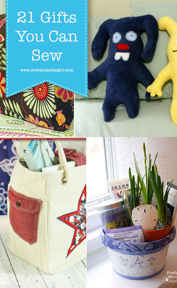 Check out these 21 Sew Special Gifts. Even if sewing isn't your specialty, you'll find a wide assortment of projects here for many on your list . . . including yourself! | DIY gift ideas | Handmade gifts | Pretty Handy Girl #prettyhandygirl #DIYgifts #handmadegifts