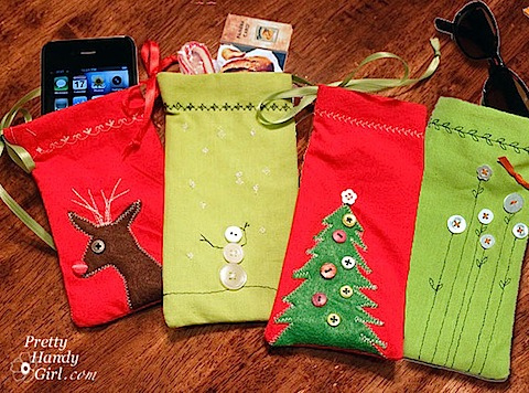 Sew Mini Gift Pouches from Napkins