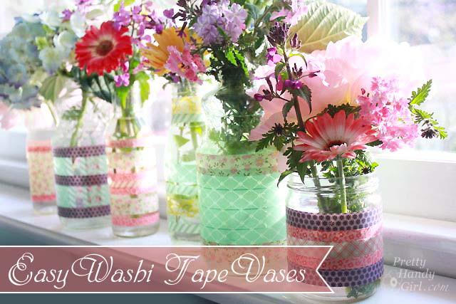 Easy Washi Tape Vases