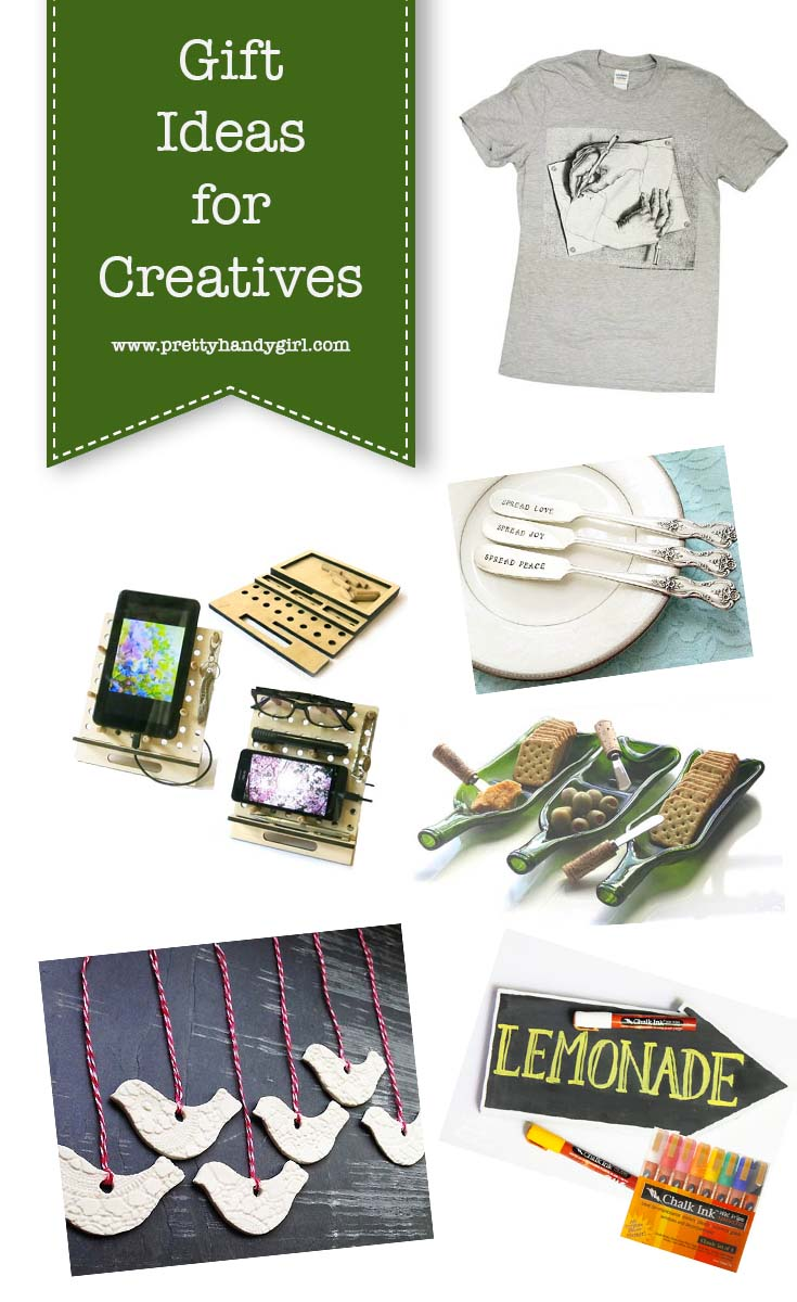 Check out these amazing gift ideas for all the creatives on your list! | Holiday gift ideas for creatives | Pretty Handy Girl #giftguide #holidaygiftideas #giftideas