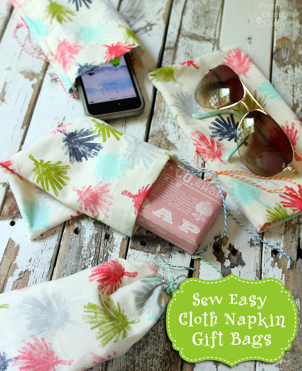 Sew Easy Anthropologie Cloth Napkin Gift Bags