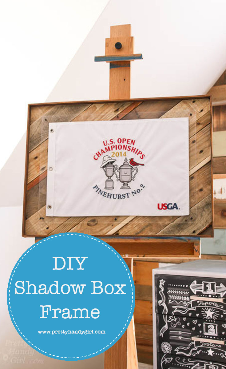 Put all that scrap wood to good use with this DIY Shadow Box Frame! | Scrap wood project | DIY woodworking project | Pretty Handy Girl #DIY #prettyhandygirl #scrapwoodproject