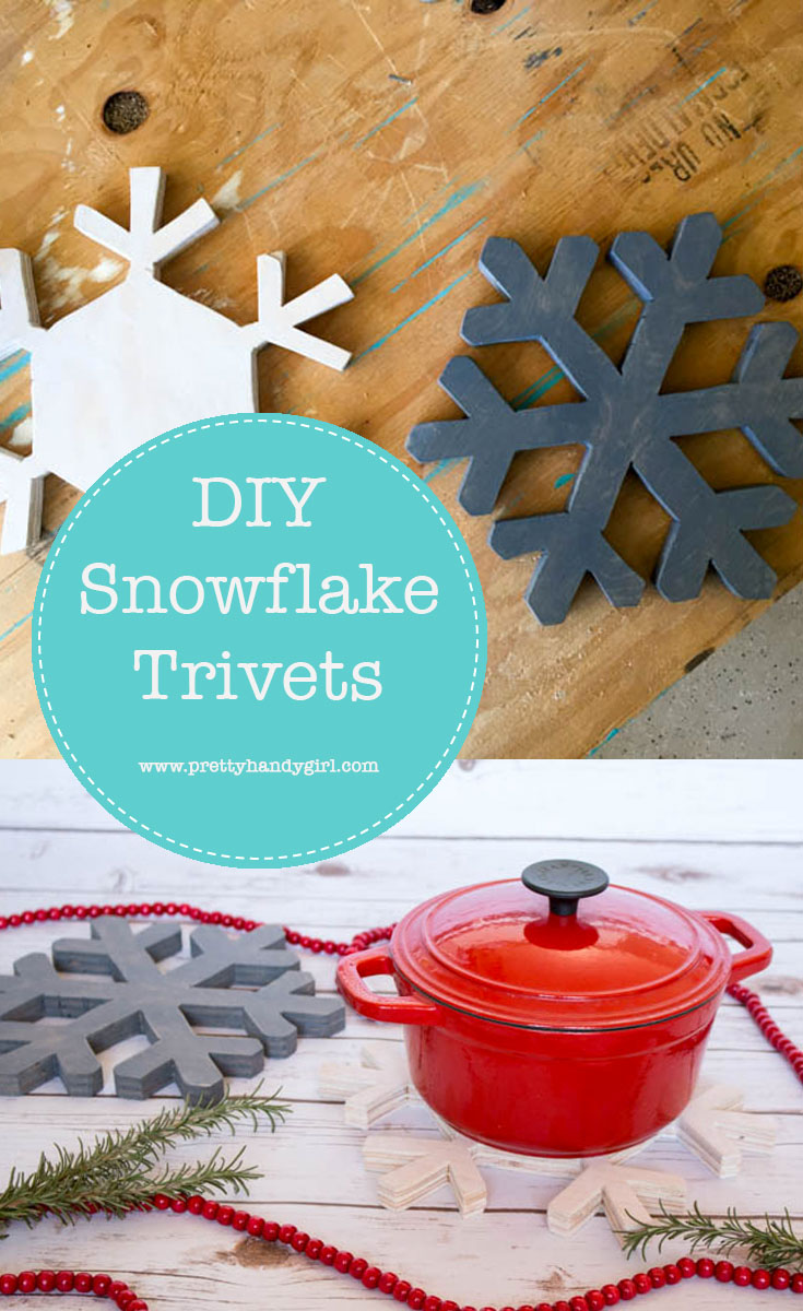 Add holiday charm to your kitchen with these simple and pretty DIY snowflake trivets   DIY holiday home decor   Pretty Handy Girl #prettyhandygirl #DIY #holidayhome