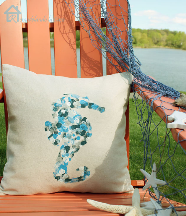 How to Make Thumbprint Design Envelope Pillows