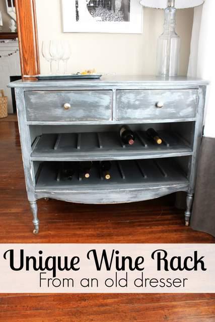 DIY Unique Wine Rack