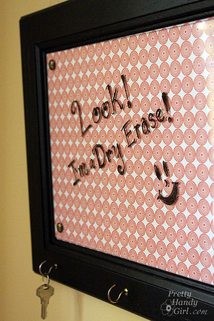 Dry Erase Message Board from Cabinet Door