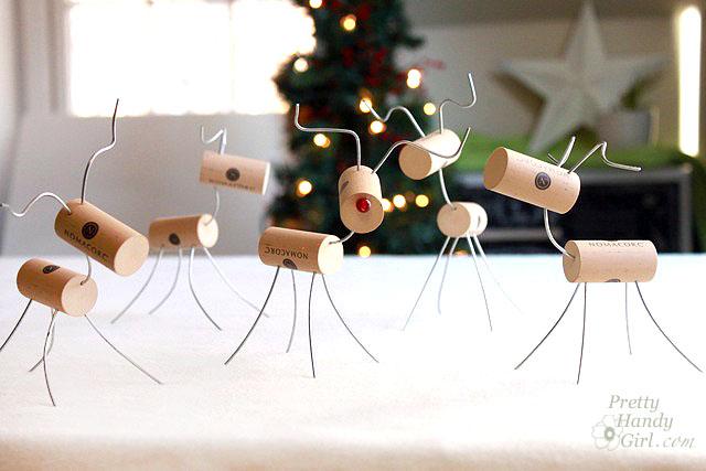 Cute Wine Cork Reindeer