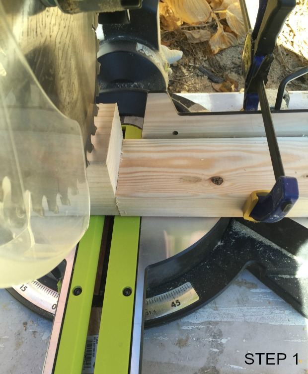 fabric & wood coasters step 1