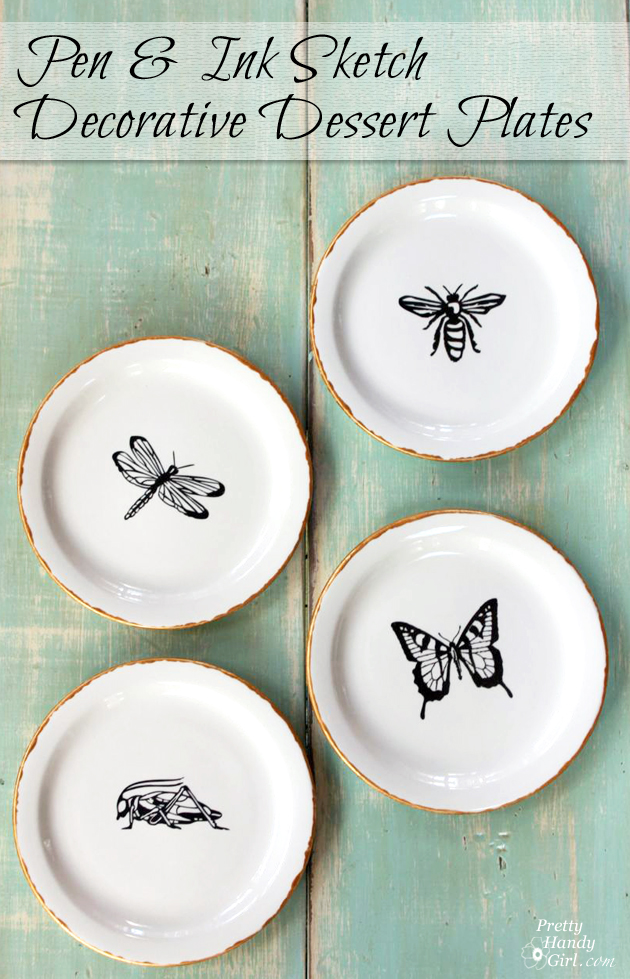 Pen and Ink Decorative Plates