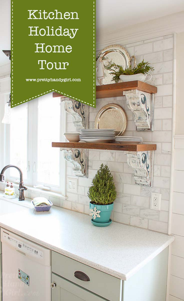 Add holiday charm to your kitchen with these holiday home decor ideas from Pretty Handy Girl | holiday kitchen | kitchen decor #prettyhandygirl #holidayhome #holidaykitchen #kitchen #holidaydecor