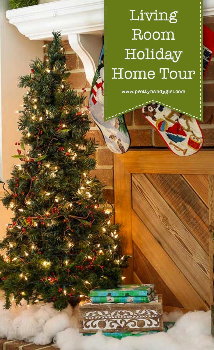 Add holiday charm to your living room with these holiday home decor ideas from Pretty Handy Girl | holiday living room | living room decor #prettyhandygirl #holidayhome #holidaylivingroom #livingroom #holidaydecor