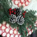 Ceiling Medallion Peppermint Wreath | Pretty Handy Girl