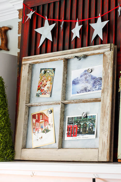 Rustic Metal Magnetic Window Frame