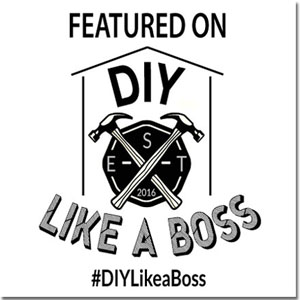 I was featured on #DIYLikeaBoss Weekly Features