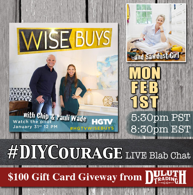 #DIYCourage Live Blab - 1st Monday of the Month at 8:30p EST | Pretty Handy Girl