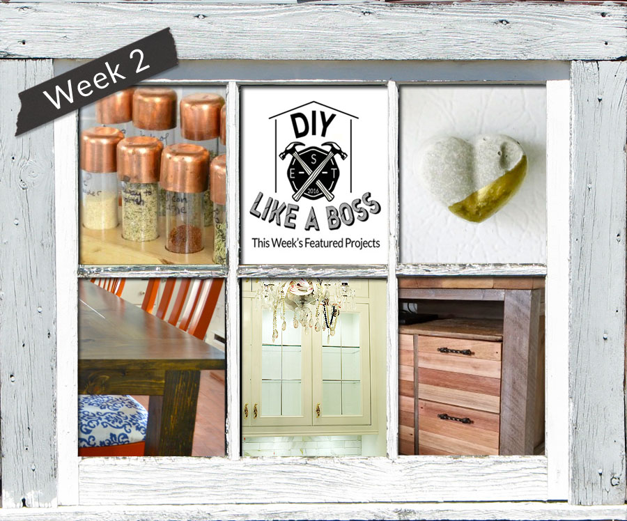 #DIYLikeaBoss Week 2 Features - The only DIY and home decor link party where you will be featured on 5 blogs + Hometalk! ‪#‎diylikeaboss‬
