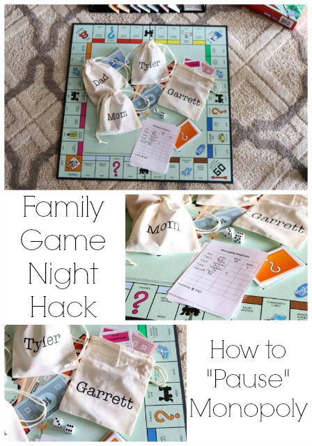 Family Game Night Hack How to Pause Monopoly