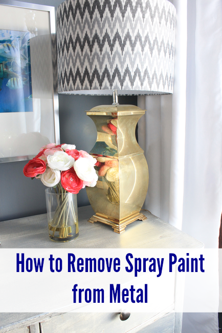how to remove spray paint from metal pretty handy girl. Black Bedroom Furniture Sets. Home Design Ideas