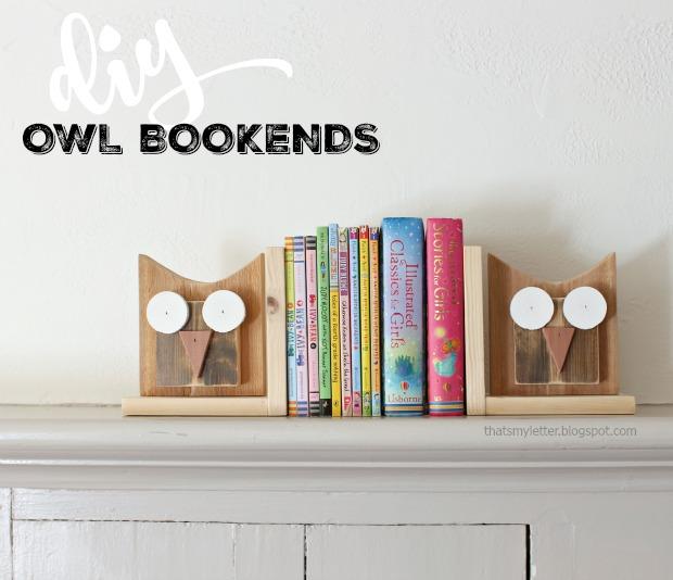 diy owl bookends