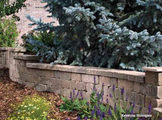 Belgard Stonegate Wall - Backyard Landscaping Plans | Pretty Handy Girl