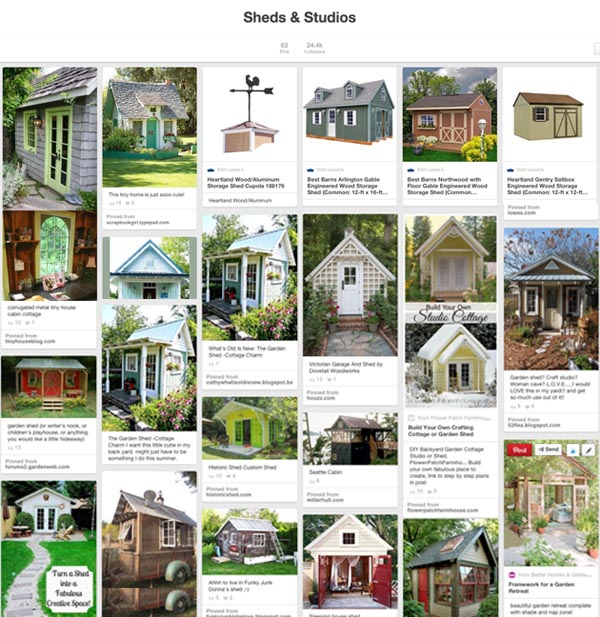 Pinterest Board of Sheds & Studios | Pretty Handy Girl