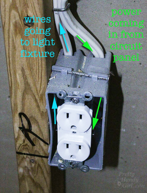 how to change a light fixture to an outlet
