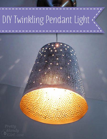 DIY Twinkling Pendant Light | Pretty Handy Girl