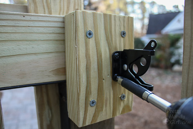 Adding Decorative and Functional Hardware to Your Gate | Pretty Handy Girl