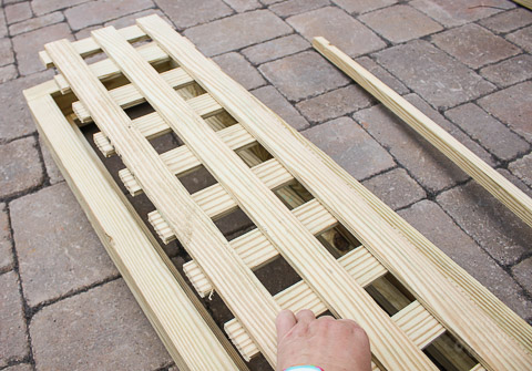 Build a Pergola to Screen Your Trash Cans | Pretty Handy Girl