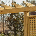 Building a Pergola with Trellis Screens