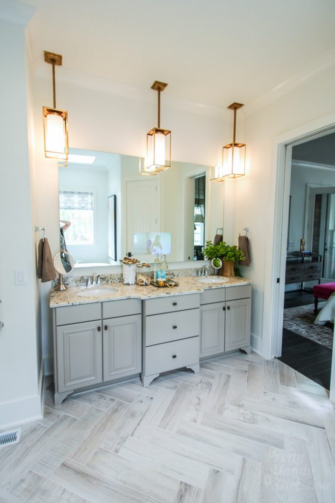 Bathroom Cabinets Raleigh Nc 2016 hgtv smart home tour in raleigh, nc - pretty handy girl