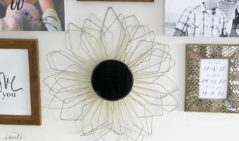 Love Create Celebrate - Coat Hanger Starburst Mirror