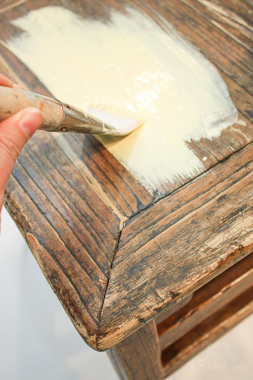 Chalk Painted Wooden Stool   Pretty Handy Girl