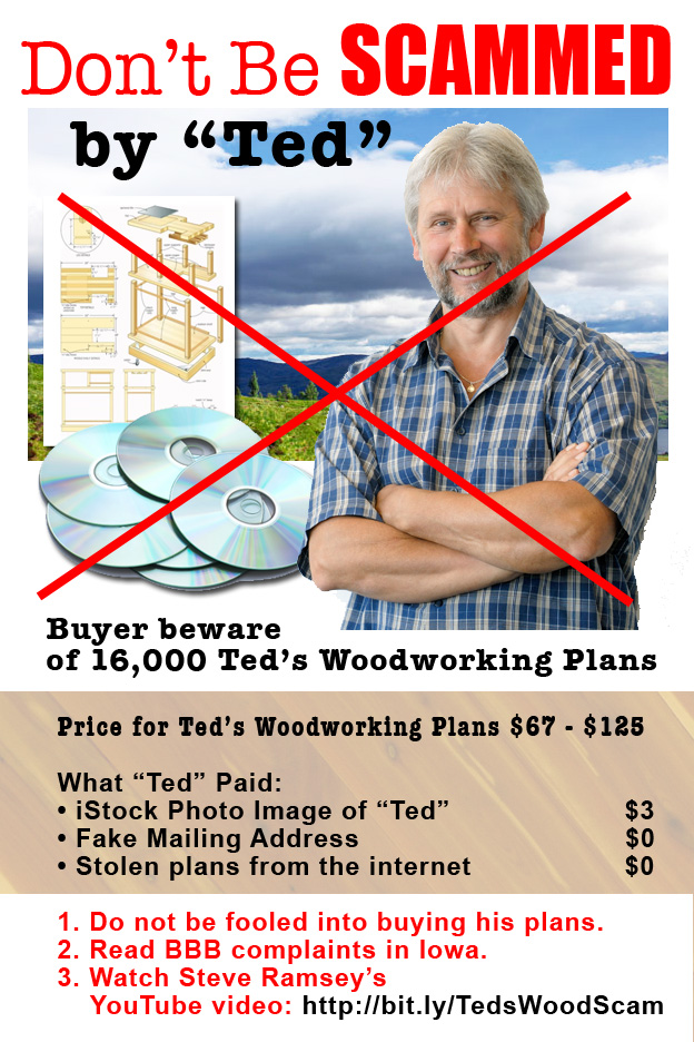 Beware Ted's Woodworking SCAM