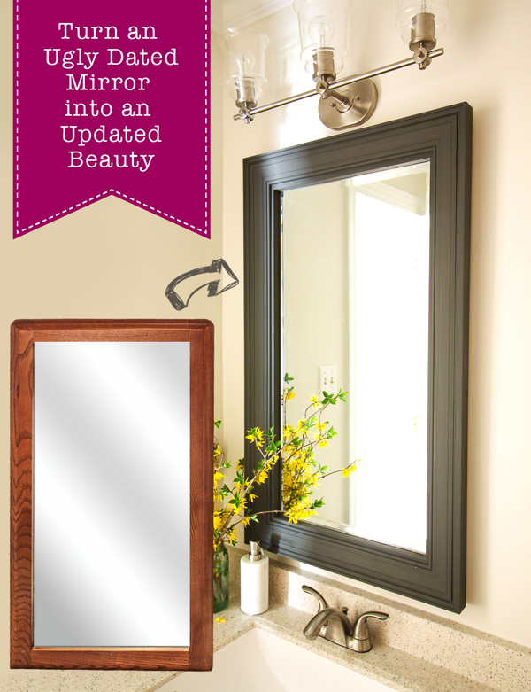 Beautiful How to Update a Dated Mirror Pretty Handy Girl