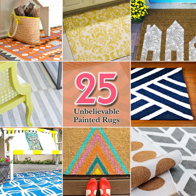 25 Unbelievable Painted Rugs