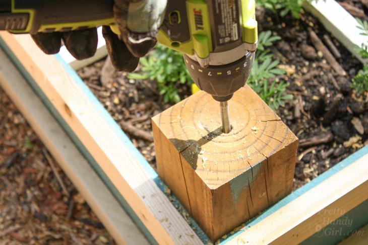 drill-3.8-hole-into-corner-posts