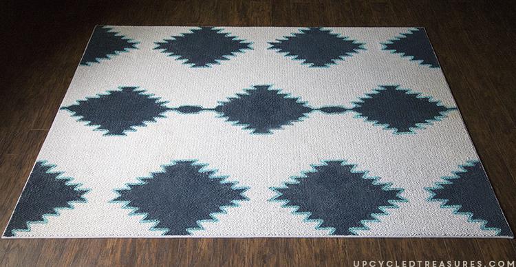 Navajo Inspired Diy Painted Rug Upcycledtreasures