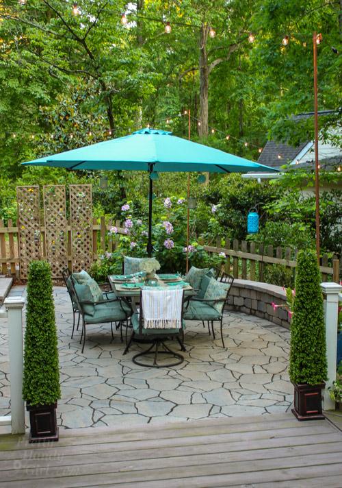 Outdoor Garden Patio Party Decorating Ideas | Pretty Handy Girl