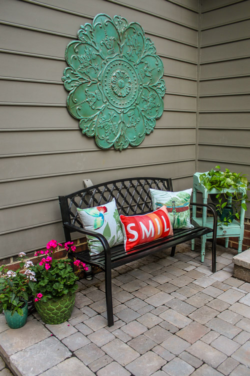 Decorating Ideas For An Outdoor Garden Party Pretty Handy Girl Magnificent How To Decorate A Bench With Pillows