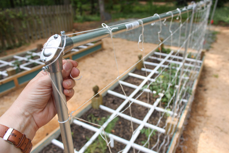 Marvelous Vine And Veggie Trellis Net Part - 9: Slip-vine-netting-over-conduit-supports