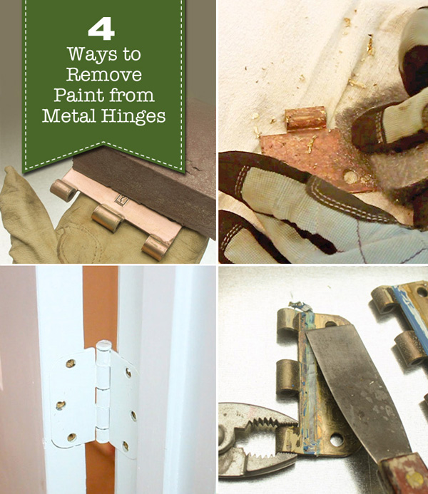4 Ways To Remove Paint From Metal Hinges (u0026 More) | Pretty Handy Girl