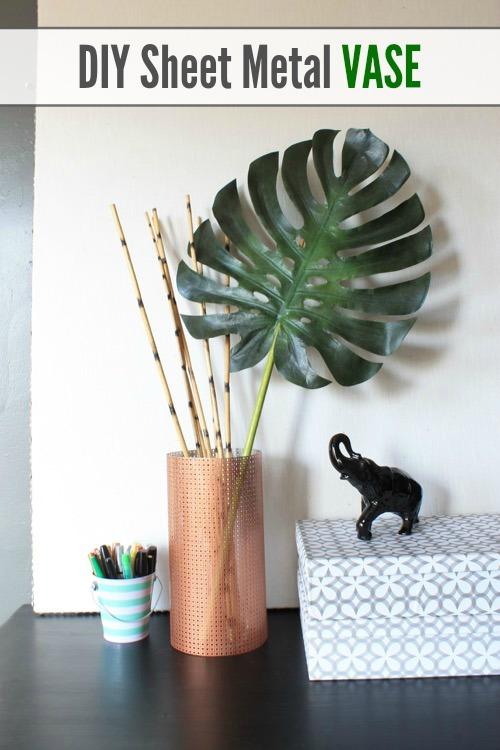 DIY Sheet Metal Vase - Pretty Handy Girl
