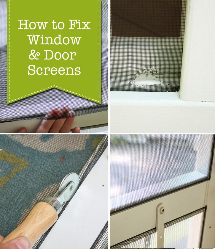 how to fix window door screens pretty handy girl bloglovin. Black Bedroom Furniture Sets. Home Design Ideas