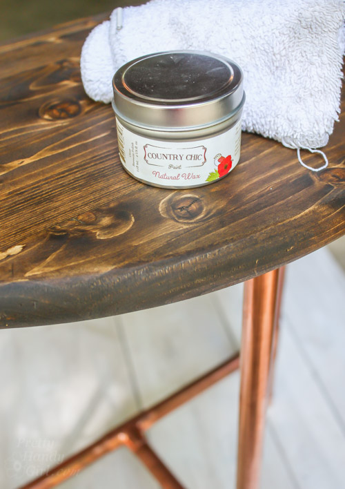 Inspirational Half Round Copper u Wood Side Table Pretty Handy Girl