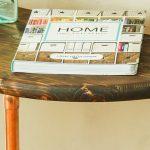 Half Round Copper & Wood Side Table | Pretty Handy Girl