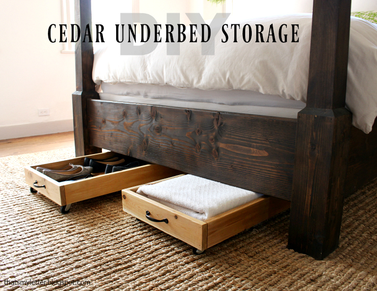 diy cedar underbed storage pretty handy girl